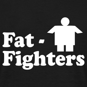 FAT FIGHTERS T-Shirt schwarz, Motiv weiß - Männer T-Shirt