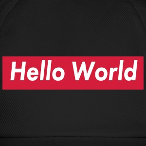 hello world Caps & Mützen - Baseballkappe