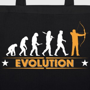 Archery evolution - orange/white Bags & Backpacks - EarthPositive Tote Bag