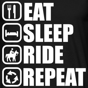 Eat,sleep,ride,repeat, horse riding  - Men's T-Shirt