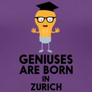 Geniuses are born in ZURICH Sj26a T-Shirts - Women's Premium T-Shirt