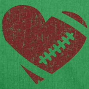 VINTAGE FOOTBALL HEART Bags & Backpacks - Shoulder Bag made from recycled material