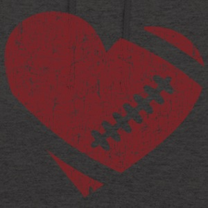 VINTAGE FOOTBALL HEART Hoodies & Sweatshirts - Unisex Hoodie
