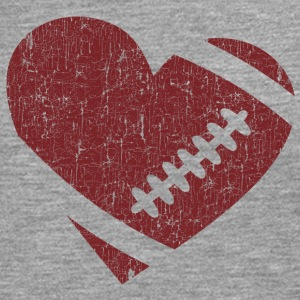 VINTAGE FOOTBALL HEART Long sleeve shirts - Men's Premium Longsleeve Shirt