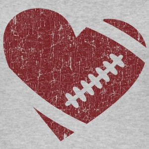 VINTAGE FOOTBALL HEART Tops - Women's Organic Tank Top