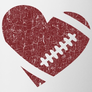 VINTAGE FOOTBALL HEART Mugs & Drinkware - Mug