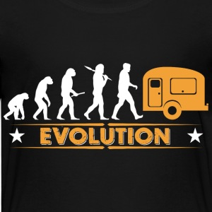 Camping Evolution - orange/weiss Tee shirts - T-shirt Premium Ado