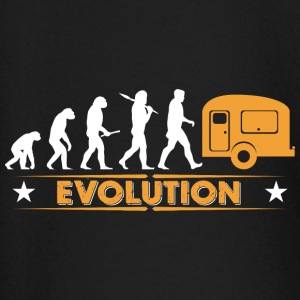 Camping Evolution - orange/weiss Baby Long Sleeve Shirts - Baby Long Sleeve T-Shirt