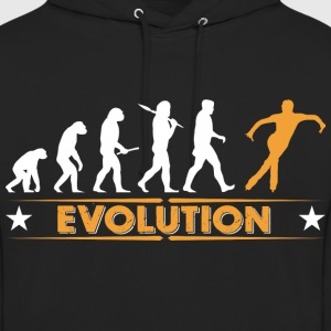 Ice skating evolution - orange/vit Tröjor - Luvtröja unisex
