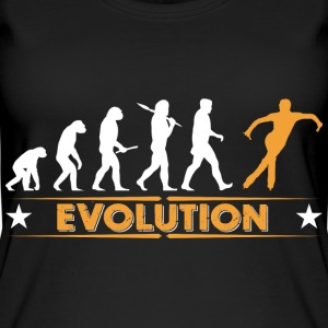Ice skating evolution - orange/white Tops - Women's Organic Tank Top