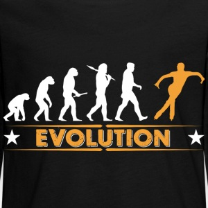 Ice skating evolution - orange/white Long Sleeve Shirts - Teenagers' Premium Longsleeve Shirt
