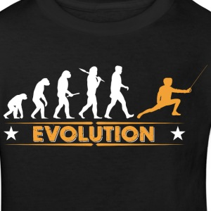 Fechten Evolution - orange/weiss T-Shirts - Kinder Bio-T-Shirt