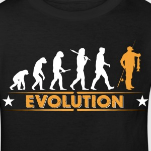 Fisk evolution - orange/hvid T-shirts - Organic børne shirt