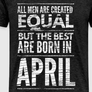 April verjaardag shirt design T-shirts - Mannen Premium T-shirt