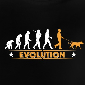Evolution de chiens - orange/blanc Tee shirts Bébés - T-shirt Bébé