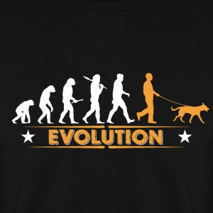 Evolution de chiens - orange/blanc Sweat-shirts - Sweat-shirt Homme