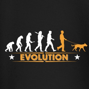 Dogs evolution - orange/white Baby Long Sleeve Shirts - Baby Long Sleeve T-Shirt