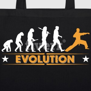 Martial arts evolution - orange/white Bags & Backpacks - EarthPositive Tote Bag