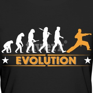 Martial arts evolutie - oranje/wit T-shirts - Vrouwen Bio-T-shirt