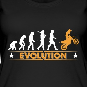 Motocross Evolution - orange/weiss Top - Top da donna ecologico