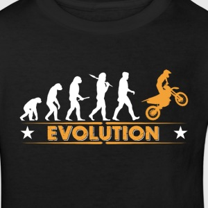 Motocross Evolution - orange/weiss Shirts - Kinderen Bio-T-shirt