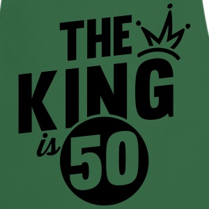 THE KING IS 50  Aprons - Cooking Apron