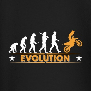Motocross Evolution - orange/weiss Baby Langarmshirts - Baby Langarmshirt