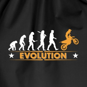 Motocross Evolution - orange/weiss Bags & Backpacks - Drawstring Bag