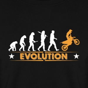 Motocross Evolution - orange/weiss Hoodies & Sweatshirts - Men's Sweatshirt