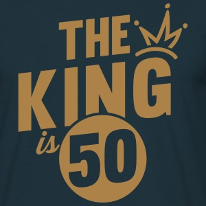 THE KING IS 50 T-Shirts - Men's T-Shirt