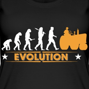 Landwirt Traktor Evolution - orange/weiss Tops - Frauen Bio Tank Top