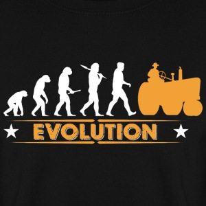 Farmer tractor evolution - orange/white Hoodies & Sweatshirts - Men's Sweatshirt