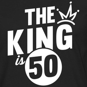 THE KING IS 50 Long sleeve shirts - Men's Premium Longsleeve Shirt