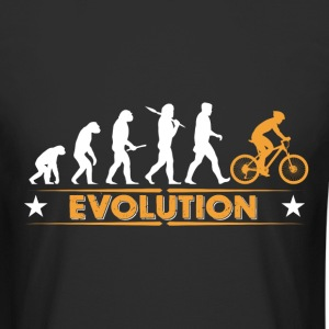 Mountain bike evolution - oransje/hvit T-skjorter - Urban lang T-skjorte for menn