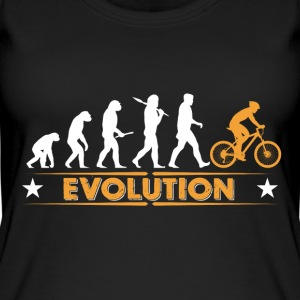 Mountain bike evolution - orange/white Tops - Women's Organic Tank Top
