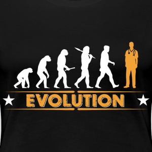 Ordnad evolution - orange/vit T-shirts - Premium-T-shirt dam