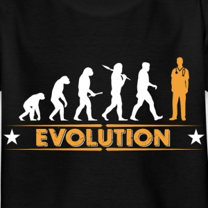 Orderly evolution - orange/white Shirts - Kids' T-Shirt