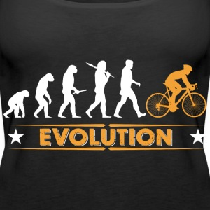 Cycling evolution - orange/white Tops - Women's Premium Tank Top