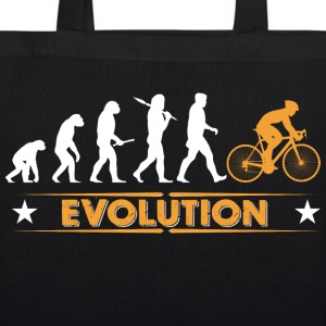 Cycling evolution - orange/white Bags & Backpacks - EarthPositive Tote Bag
