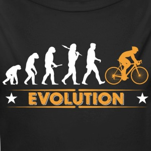Radfahren Evolution - orange/weiss Baby Bodys - Baby Bio-Langarm-Body