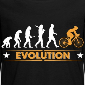 Cycling evolution - orange/white Long Sleeve Shirts - Teenagers' Premium Longsleeve Shirt