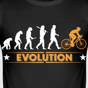 Cycling evolution - orange/white T-Shirts - Men's Slim Fit T-Shirt