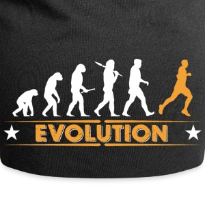 Running Evolution - orange/weiss Caps & luer - Jersey-beanie