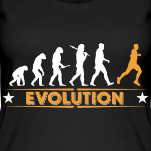 Running Evolution - orange/weiss Topper - Øko-singlet for kvinner