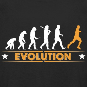 Running Evolution - orange/weiss Langarmshirts - Kinder Premium Langarmshirt