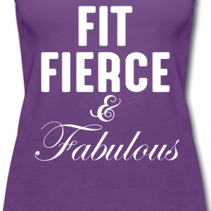 Fit Fierce And Fabulous  - Women's Premium Tank Top
