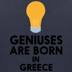 Geniuses are born in GREECE S8f9y T-Shirts - Women's V-Neck T-Shirt