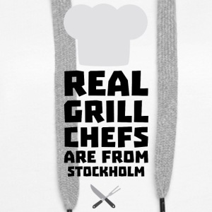 Real Grill Chefs are from Stockholm S6kq5 Hoodies & Sweatshirts - Women's Premium Hoodie