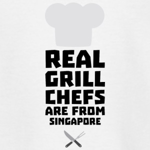 Real Grill Chefs are from Singapore Sb2oj Shirts - Kids' T-Shirt