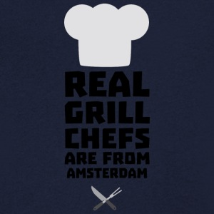 Véritables Chefs Grill proviennent d'Amsterdam Sl267 Tee shirts - T-shirt Homme col V